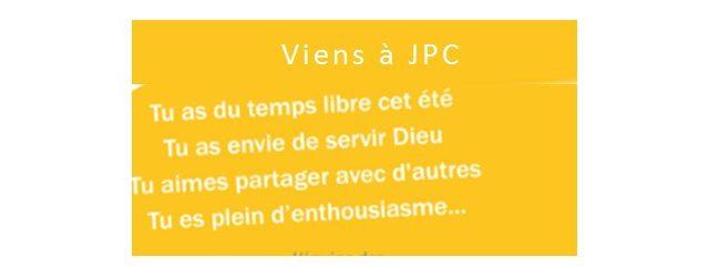 JPC Les Chênes de Mamré à Montmeyran dans la Drôme, recherche 15 à 20 bénévoles du 28 juillet au 18 août 2018